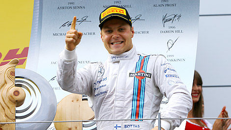 F1 Williams Austria Valtteri Bottas podium