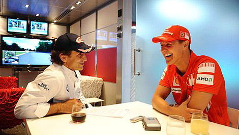 F1 Alex Zanardi 2008 Michael Schumacher