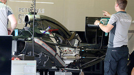 F1 Mercedes W05 chassis