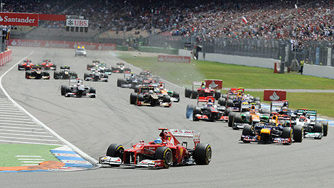 F1 Hockenheim start 2012