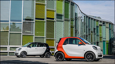 All-new smart fortwo and forfour unveiled in Berlin