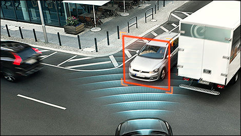 Freinage automatique aux intersections City Safety