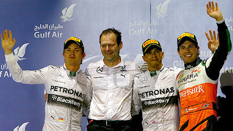 F1 Mercedes 1-2 finish Bahrain Aldo Costa