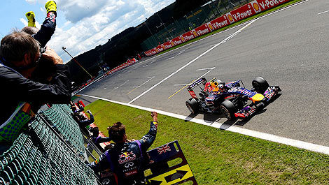 F1 Daniel Ricciardo Red Bull winner Spa-Francorchamps