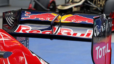 F1 Red Bull DRS rear wing