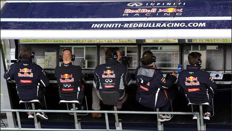 F1 Red Bull Racing pitwall