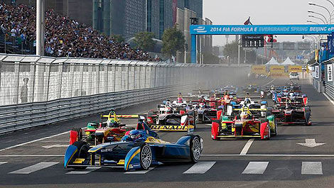 FIA Formule E start Beijing China