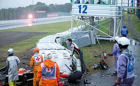F1 Jules Bianchi crash Suzuka green flag