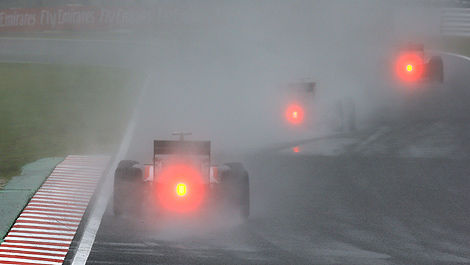 F1 wet track Suzuka Japan