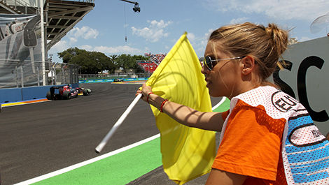 Yellow flag situation