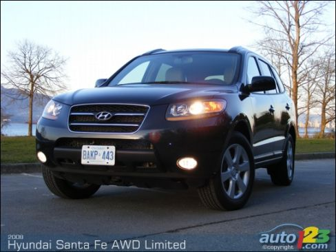 2008 hyundai santa fe awd limited review editor 39 s review. Black Bedroom Furniture Sets. Home Design Ideas