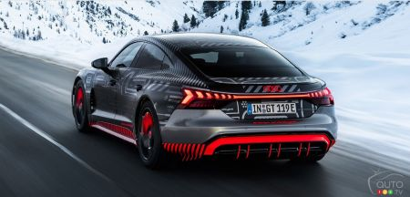Audi e-tron GT concept, three-quarters rear