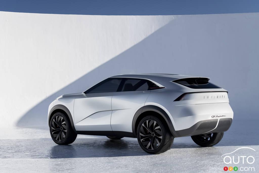 Infiniti EV (prototype  QX Inspiration), trois quarts arrière