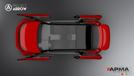 Project Arrow design study, from above