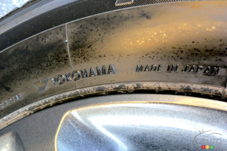 We know from this that this tire comes from Japan.