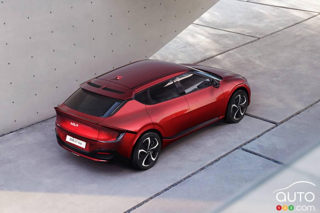 Kia EV6 GT, de haut