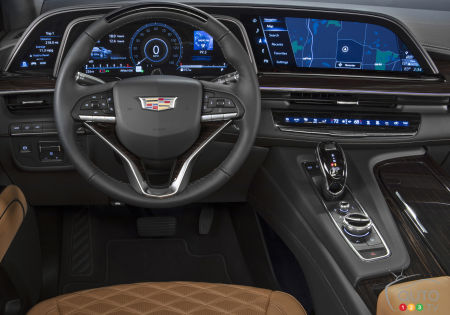 2021 Cadillac Escalade, screens