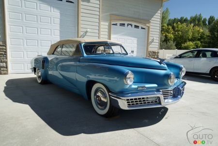 Tucker 48 convertible, three-quarters front
