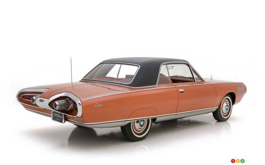 La Chrysler Turbine 1963, trois quarts arrière