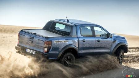 2019 Ford Ranger Raptor, three-quarters rear