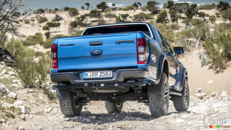 2019 Ford Ranger Raptor, rear