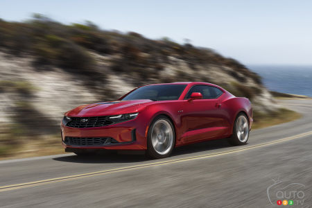 2020 Chevrolet Camaro, on the road