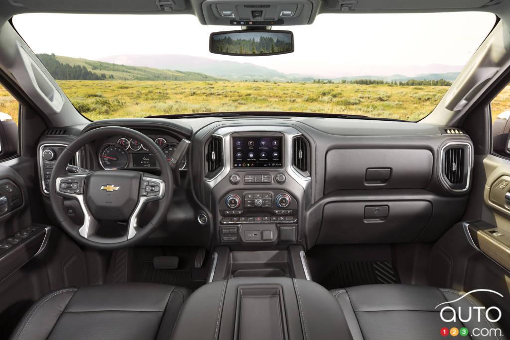 Chevrolet Silverado 1500 LTZ 2020, intérieur
