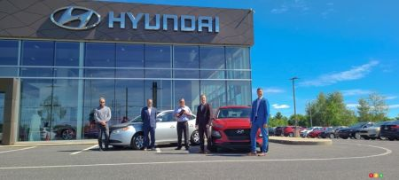 The Hyundai Granby, team with Jonathan Roy and his 2008 Elantra with 1 million km
