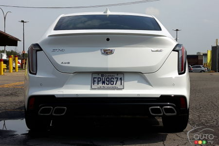 2020 Cadillac CT4-V, rear