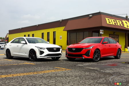 The 2020 Cadillac CT4-V and the 2020 Cadillac CT5-V