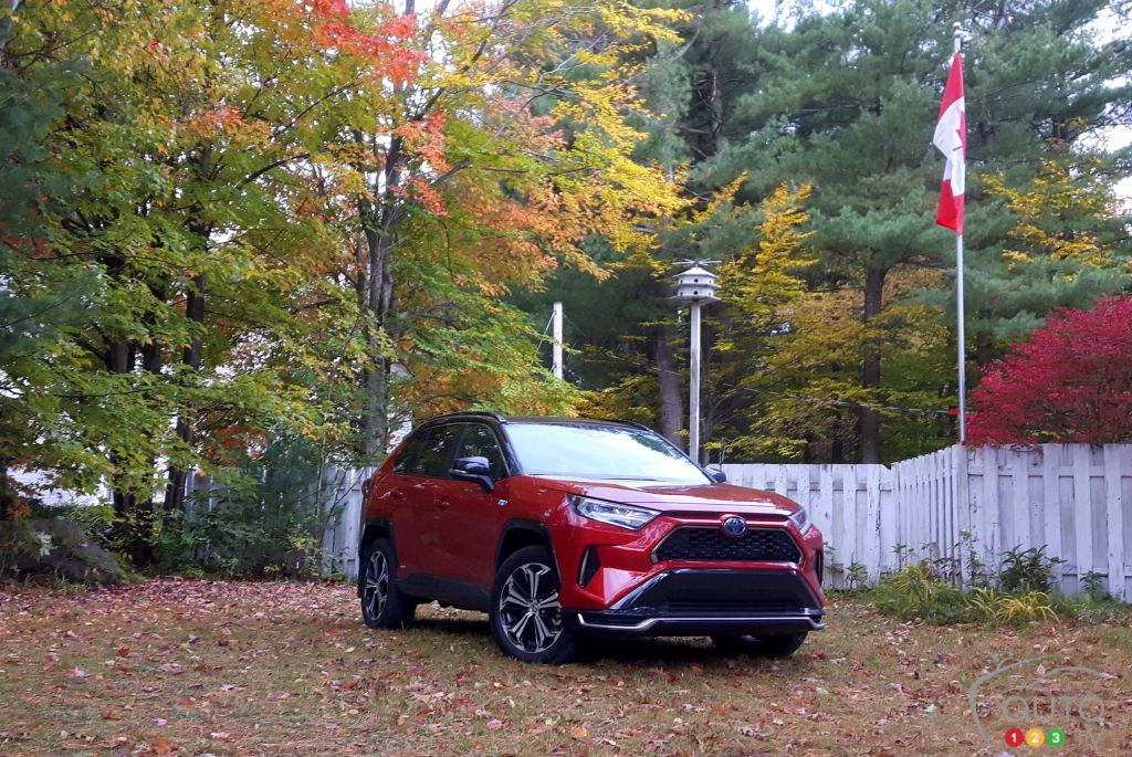 Toyota RAV4 Prime 2021, trois quarts avant