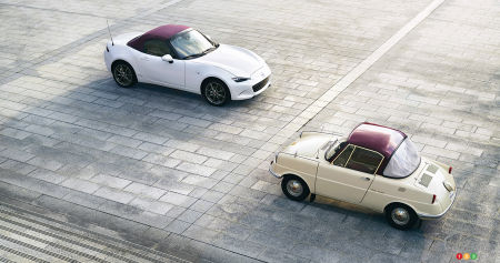 The Mazda MX-5 100th Anniversary Edition, and the R360 Coupe