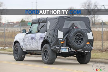 2021 Ford Bronco, three-quarters rear