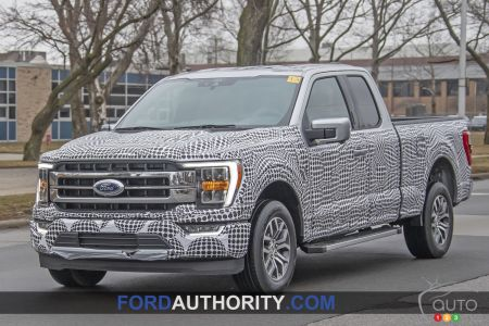 2021 Ford F-150, three-quarters front