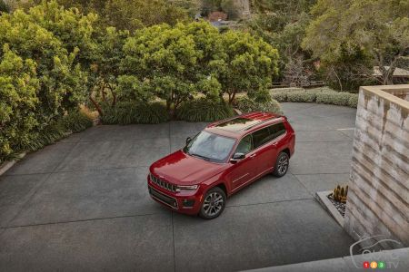 2021 Jeep Grand Cherokee L, from above