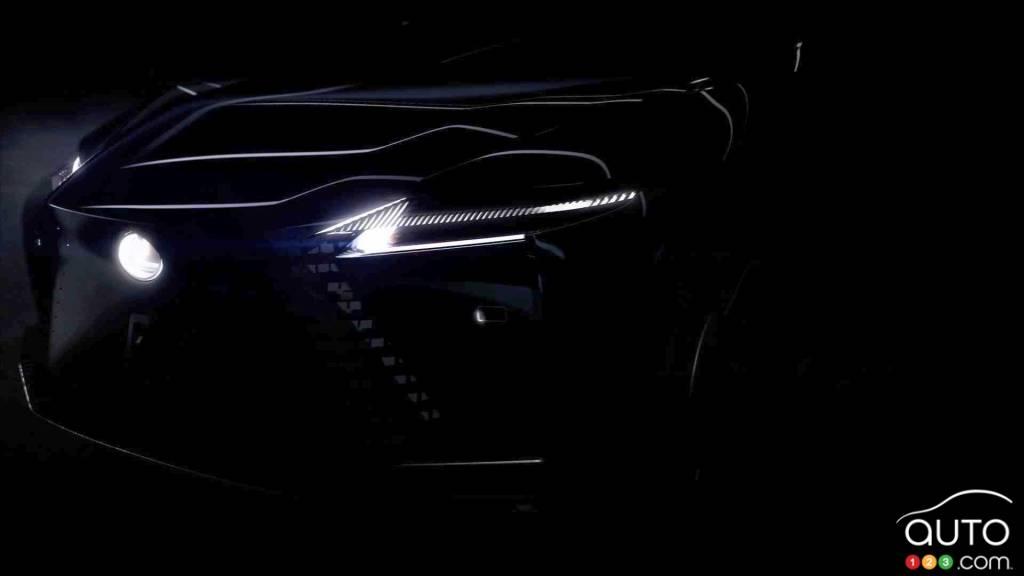 Prototype Lexus électrique, avant