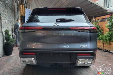 2022 Infiniti QX60, rear