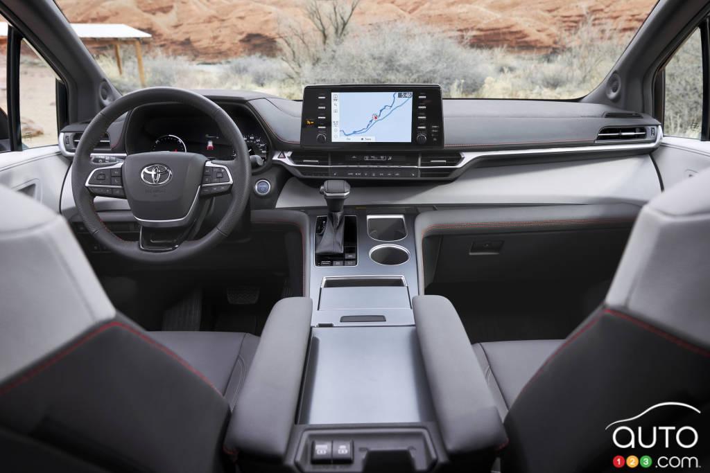 Toyota Sienna XSE 2021, intérieur