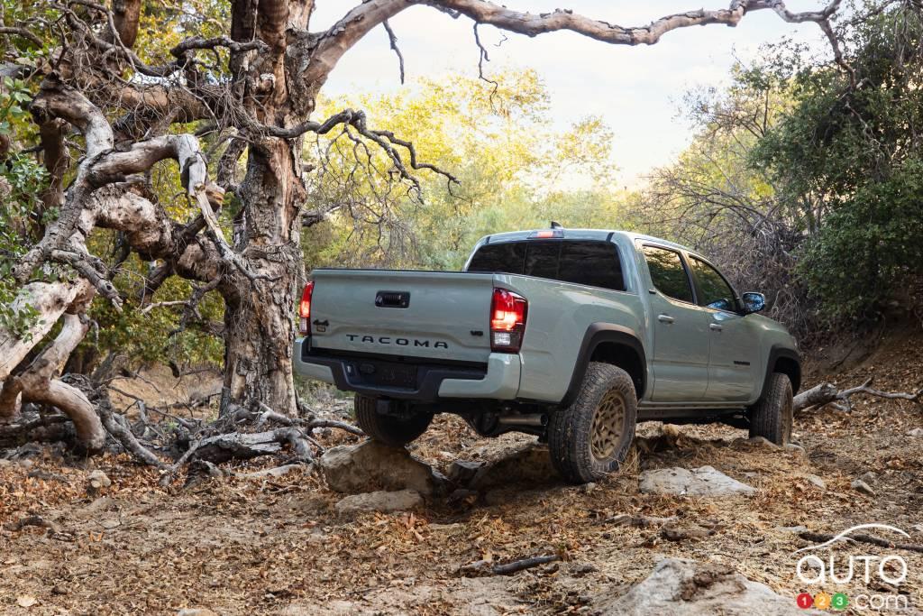 Toyota Tacoma Trail 2022, trois quarts arrière