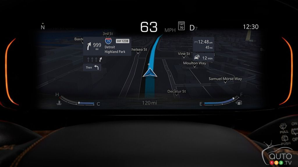 Jeep Wagoneer 2022, écran conducteur