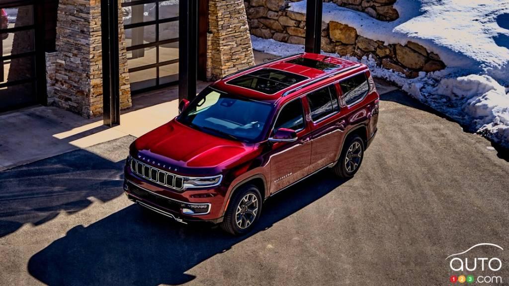 Jeep Wagoneer 2022, de haut