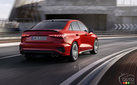 2022 Audi S3, three-quarters back