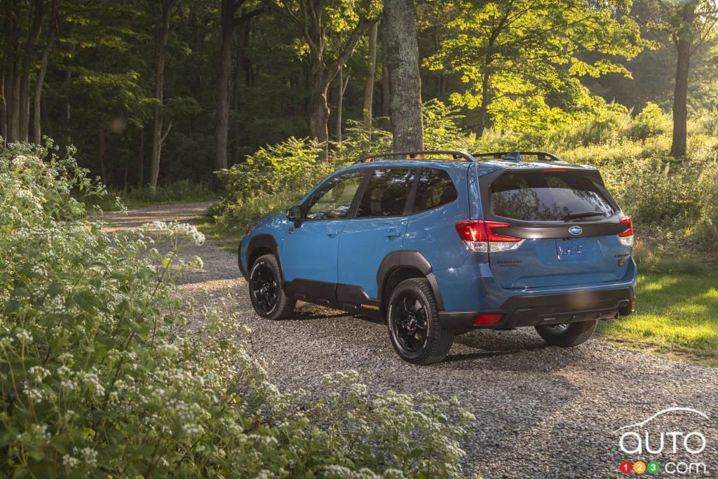 Subaru Forester Wilderness 2022, trois quarts arrière