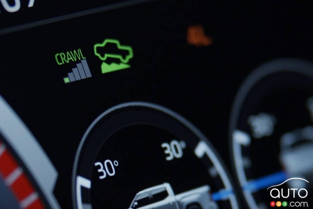 Toyota Tundra 2022, indicateur Crawl Control
