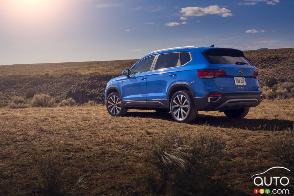 Volkswagen Taos 2022, trois quarts arrière