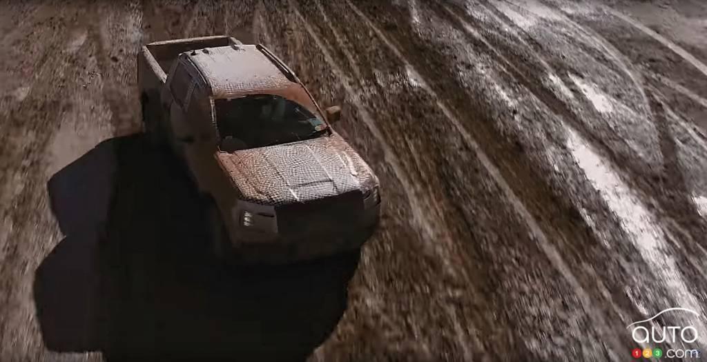 Ford Ranger 2023, de haut