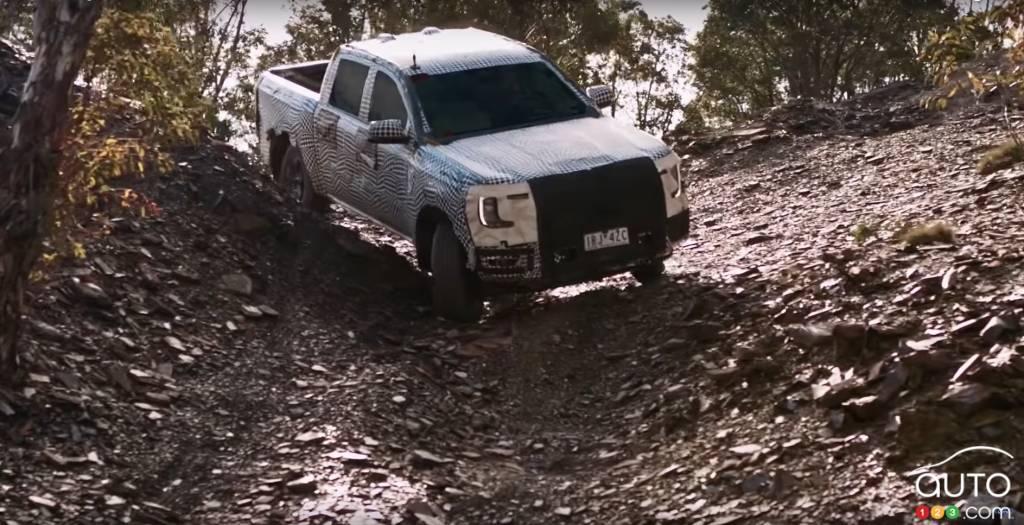 Ford Ranger 2023, en pente