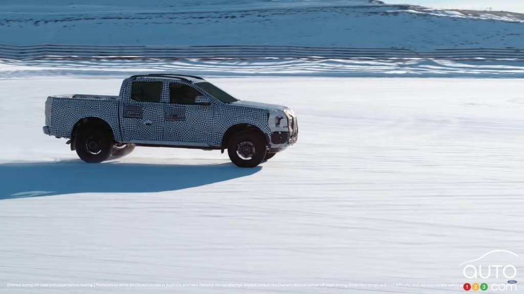 Ford Ranger 2023, dans la neige