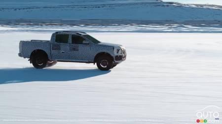 2023 Ford Ranger, on the snow