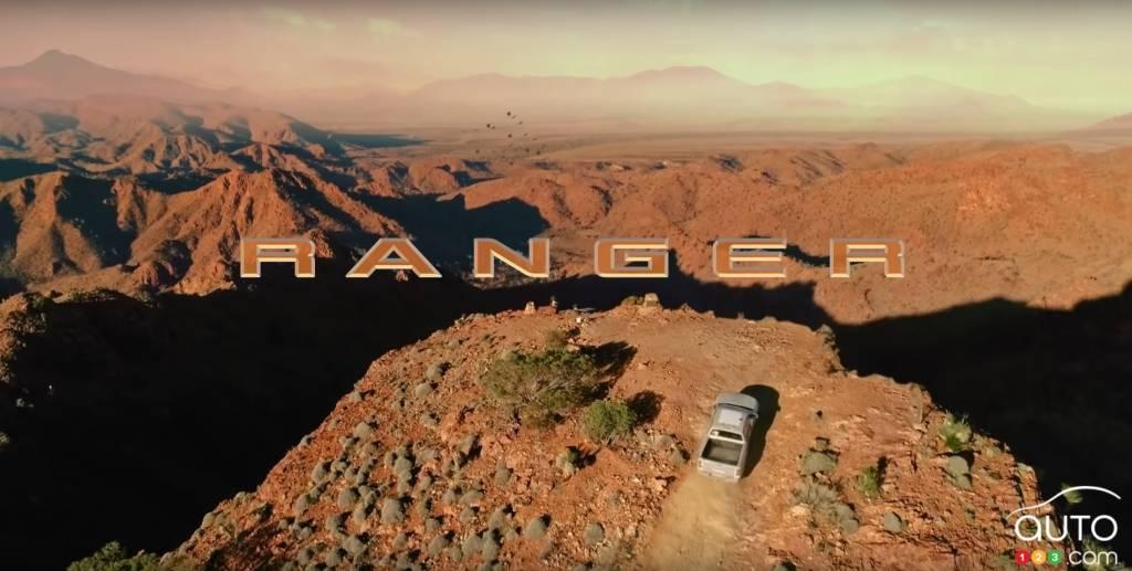 Ford Ranger 2023, de très haut